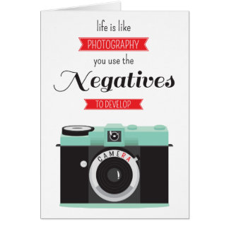 """Life is like photography"" vintage camera quote Card"