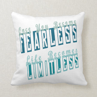 Life Is Limitless Text Design Pillow