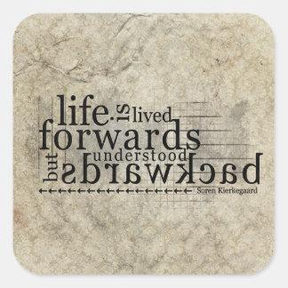 Life is Lived Forwards Understood Backwards Sticker