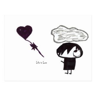Life is Loss Postcard