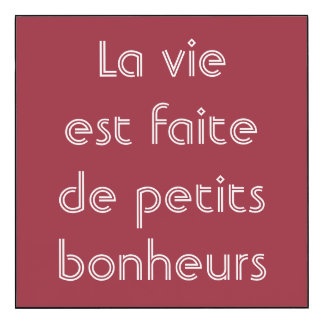 Life Is Made Of Small Pleasures French Quote Wood Print