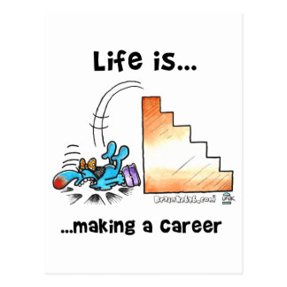 Life is Making a Career Postcard