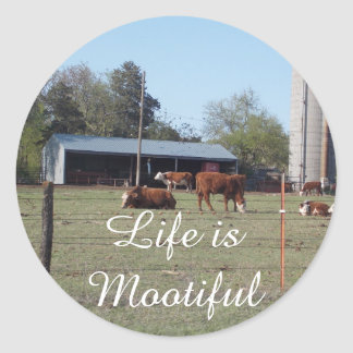 Life is Mootiful Stickers