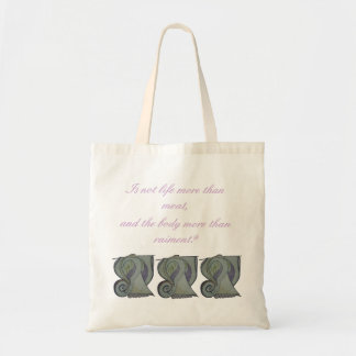 Life is more than meat tote bag