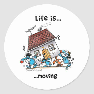 Life is Moving Classic Round Sticker