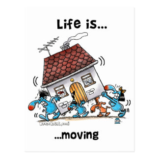 Life is Moving Postcard
