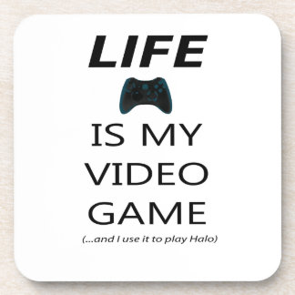 Life Is My Video Game (Halo) Drink Coaster