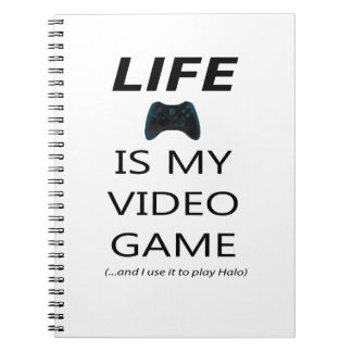 Life Is My Video Game (Halo) Spiral Notebooks