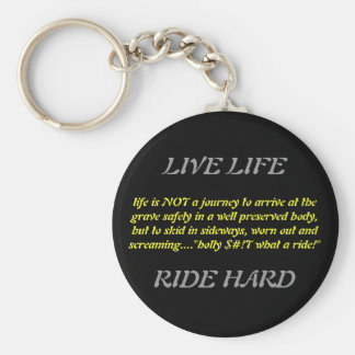 life is NOT a journey to arrive at the grave sa... Basic Round Button Keychain