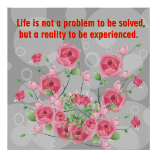 Life is not a problem poster