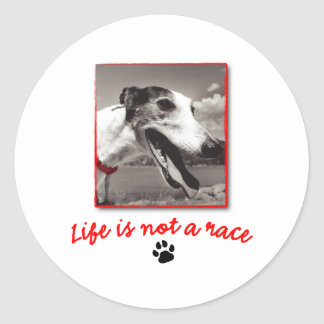 Life is NOT a Race Classic Round Sticker