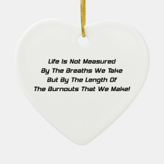 Life Is Not Measured By The Breaths We Take Double-Sided Heart Ceramic Christmas Ornament