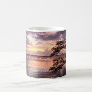 Life Is Not Measured Personalized Quote Sunset Coffee Mug