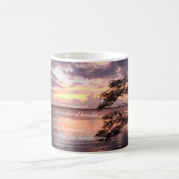 Beach Themed Life Is Not Measured Personalized Quote Sunset Coffee Mug