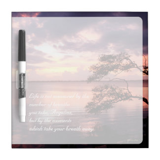Life Is Not Measured Personalized Quote Sunset Dry-Erase Board