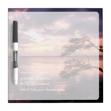 Beach Themed Life Is Not Measured Personalized Quote Sunset Dry-Erase Board