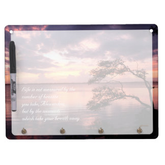 Life Is Not Measured Personalized Quote Sunset Dry Erase Board With Keychain Holder