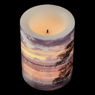 Life Is Not Measured Personalized Quote Sunset Flameless Candle