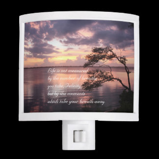 Life Is Not Measured Personalized Quote Sunset Night Light