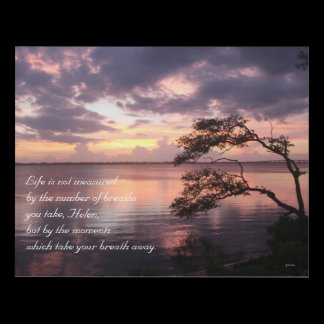 Life Is Not Measured Personalized Quote Sunset Panel Wall Art