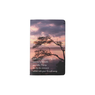 Life Is Not Measured Personalized Quote Sunset Pocket Moleskine Notebook