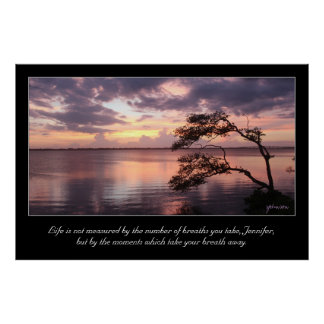 Life Is Not Measured Personalized Quote Sunset Poster