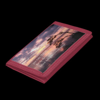 Life Is Not Measured Personalized Quote Sunset Tri-fold Wallet