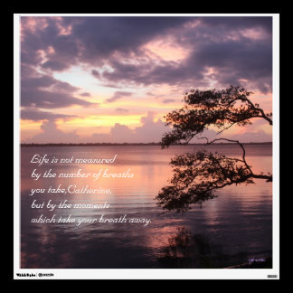 Life Is Not Measured Personalized Quote Sunset Wall Decal