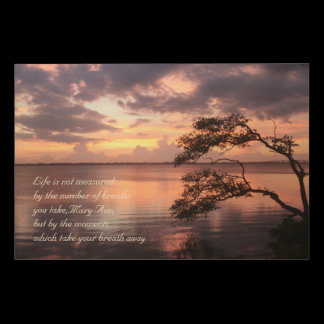Life Is Not Measured Personalized Quote Sunset Wood Wall Art