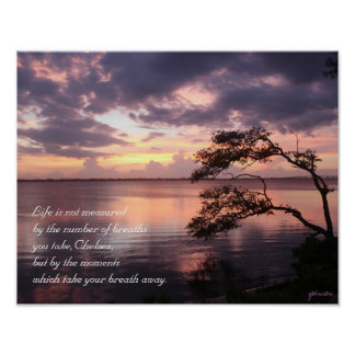 Life Is Not Measured Personalized Sunset 14x11 Poster