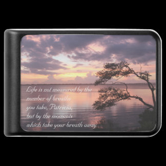 Life Is Not Measured Personalized Sunset Charger /