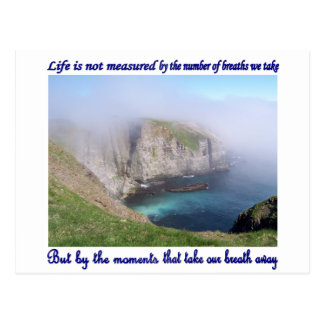 Life is Not Measured Postcard