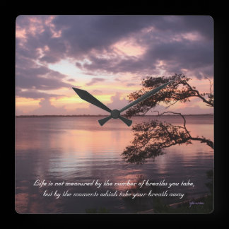 Life Is Not Measured Quote Sunset Custom Clock /