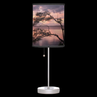 Life Is Not Measured Quote Sunset Custom Desk Lamp