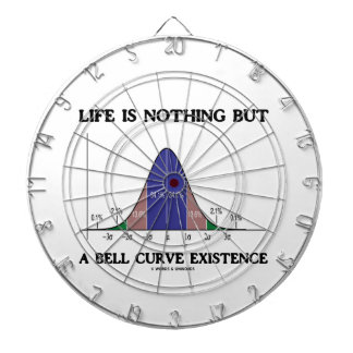 Life Is Nothing But A Bell Curve Existence (Stats) Dartboard With Darts