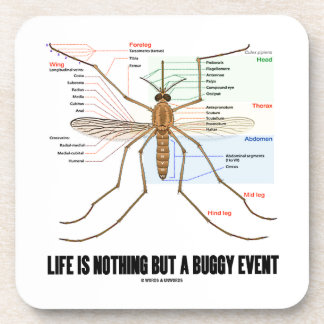 Life Is Nothing But A Buggy Event (Mosquito Humor) Coaster