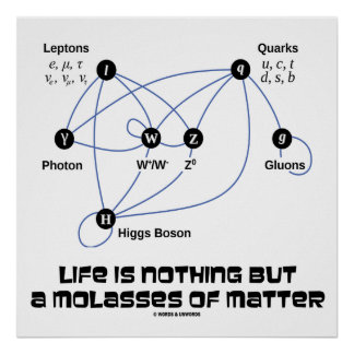 Life Is Nothing But A Molasses Of Matter Poster