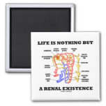 Life Is Nothing But A Renal Existence Magnets