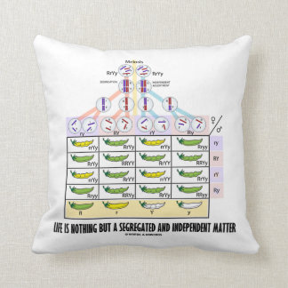 Life Is Nothing But A Segregated Mendelian Genetic Throw Pillow