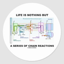 Life Is Nothing But A Series Of Chain Reactions Sticker
