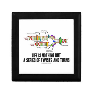 Life Is Nothing But A Series Of Twists And Turns Keepsake Boxes