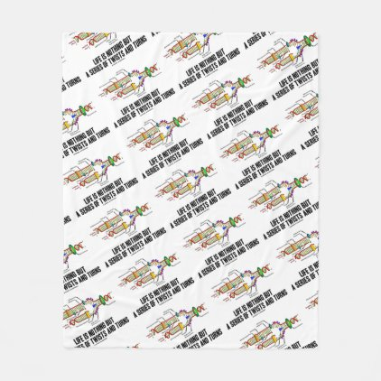Life Is Nothing But A Series Of Twists & Turns DNA Fleece Blanket