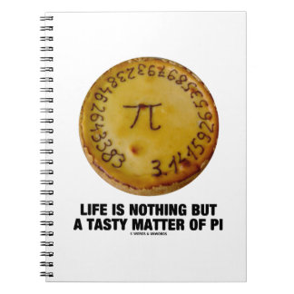 Life Is Nothing But A Tasty Matter Of Pi (Pi Pie) Notebook