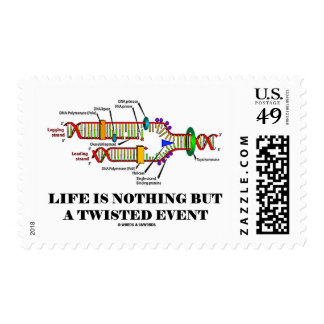 Life Is Nothing But A Twisted Event (DNA Humor) Postage Stamp