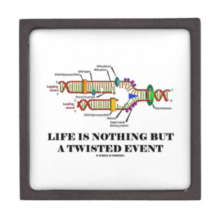 Life Is Nothing But A Twisted Event (DNA Humor) Premium Jewelry Boxes