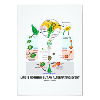 Life Is Nothing But An Alternating Event (Flower) 4.5x6.25 Paper Invitation Card