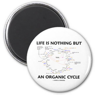 Life Is Nothing But An Organic Cycle (Krebs Cycle) Refrigerator Magnet