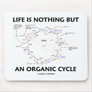 Life Is Nothing But An Organic Cycle (Krebs Cycle) Mouse Pad
