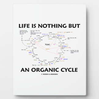Life Is Nothing But An Organic Cycle Krebs Cycle Plaque