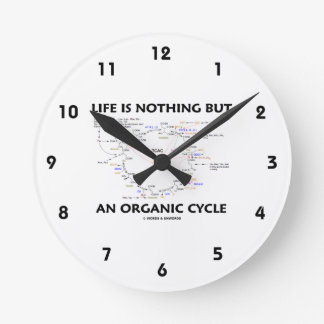 Life Is Nothing But An Organic Cycle (Krebs Cycle) Round Clock